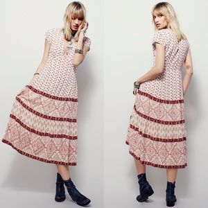 Free People Belle Notte Floral Midi Dress 10